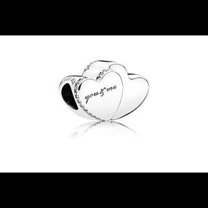 Jewelry - Pandora Two Hearts Charm,796560cz